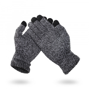 RUKAVICE TOUCH GLOVES WOOL WINTER ŠEDÉ